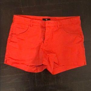 H&M Orange Shorts